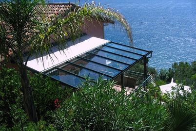Stobag TErassenglasdach von KLINSO montiert